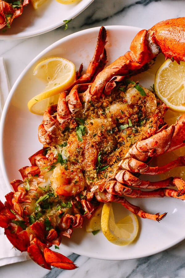 Baked Stuffed Lobster with Shrimp