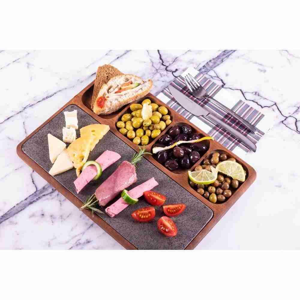 Basalt&Wooden Breakfast Tray