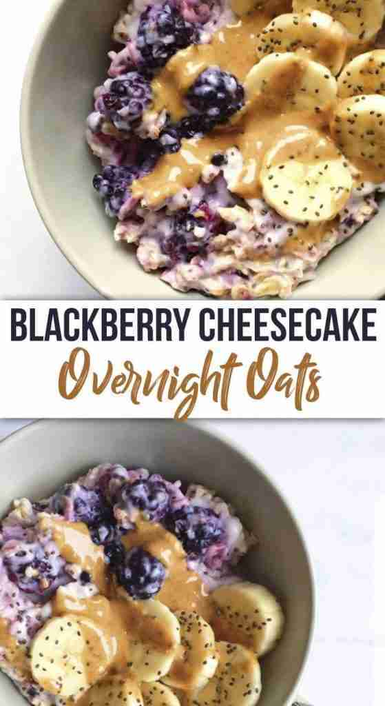 Blackberry Cheesecake Overnight Oats – The Dish On Healthy