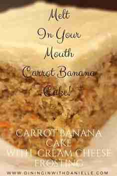 Carrot Banana Cake with Cream Cheese Frosting