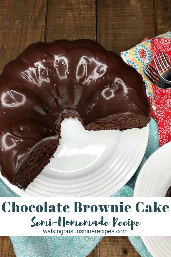 Chocolate Brownie Cake w/ Chocolate Glaze | Walking on Sunshine