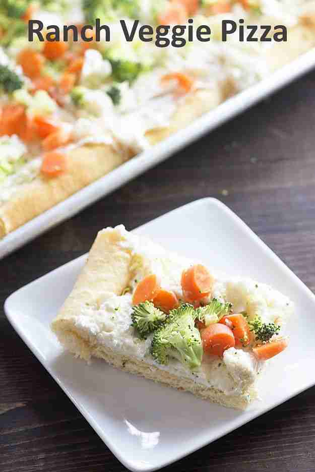 Cold Veggie Pizza – the perfect snack for any get together!