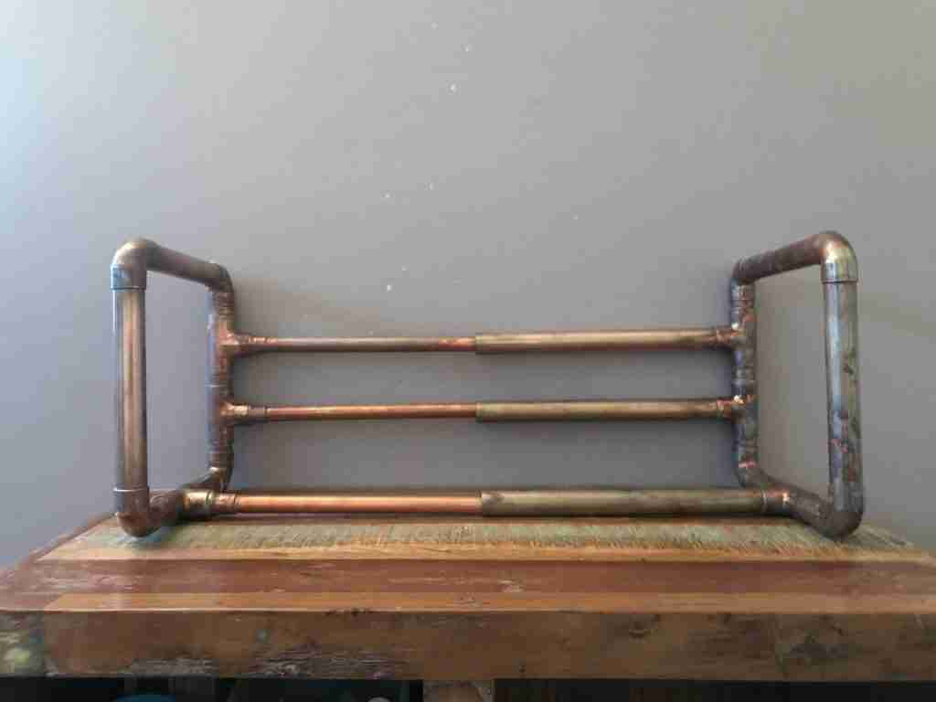 Copper Pipe Industrial extendable book rack