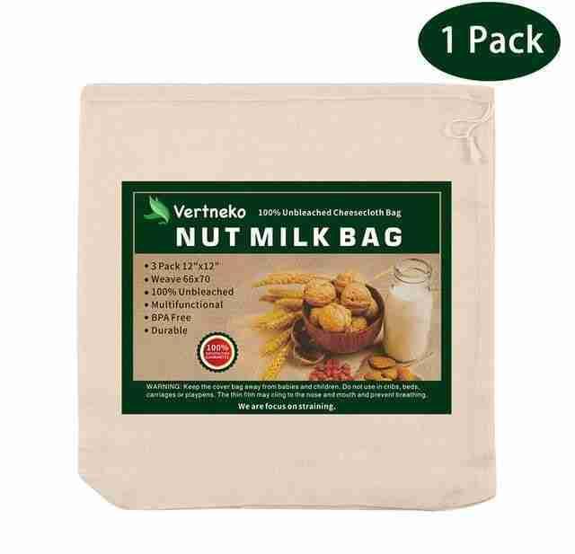 Cotton Nut Milk Straining Bags – 1 Pack