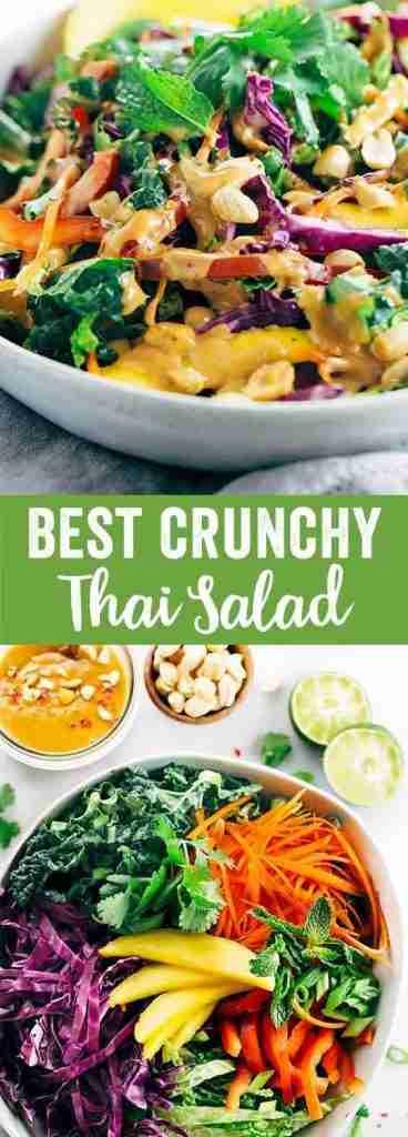 Crunchy Thai Salad with Peanut Dressing
