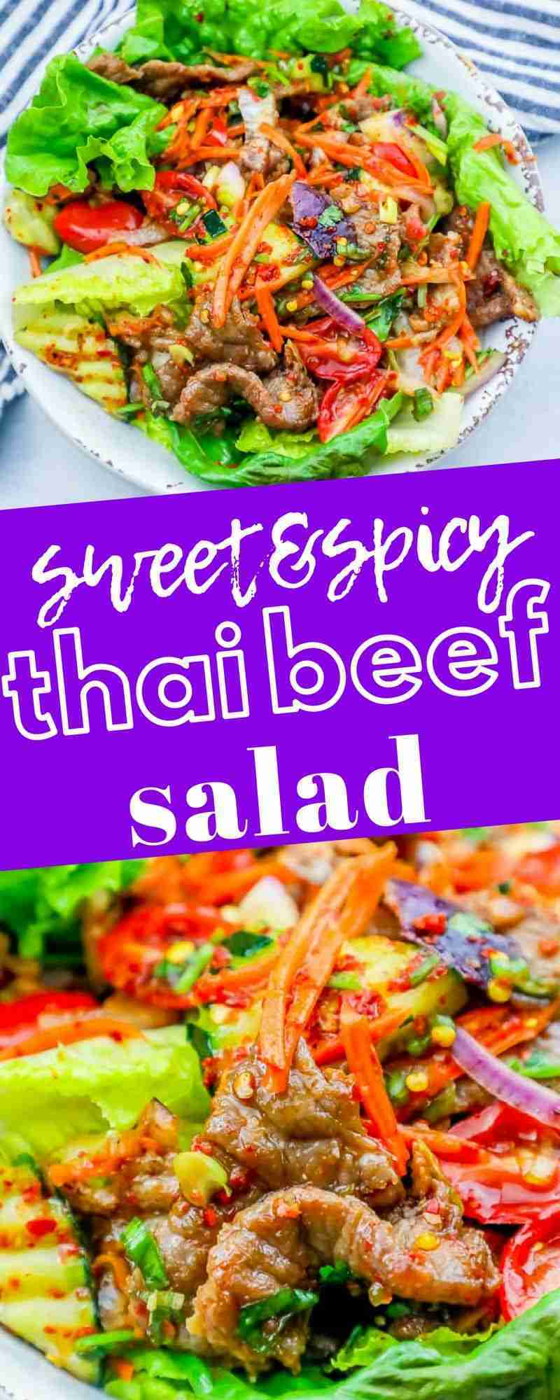 Easy Cold Spicy Thai Beef Salad Recipe – Thai Food Takeout Copycat