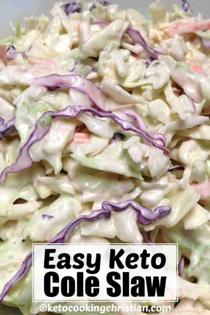 Easy Cole Slaw – Keto and Low Carb