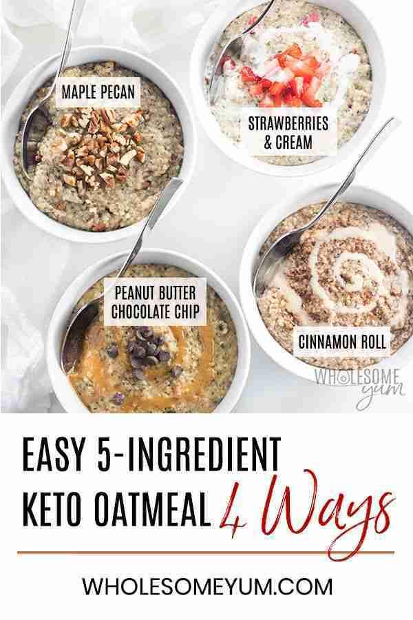 Easy Low Carb Keto Oatmeal Recipe