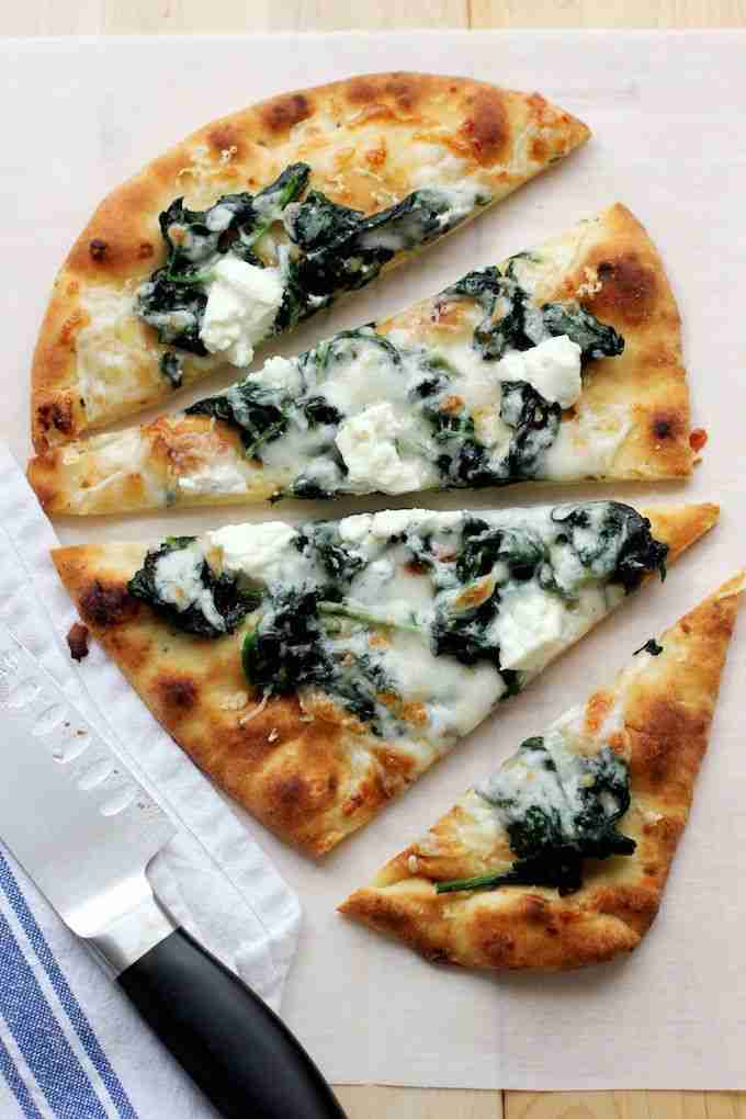 Flatbread Pizza with Spinach and Goat Cheese – Green Valley Kitchen