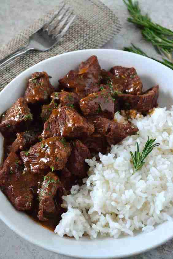 Garlic and Rosemary Beef Tips – Coop Can Cook