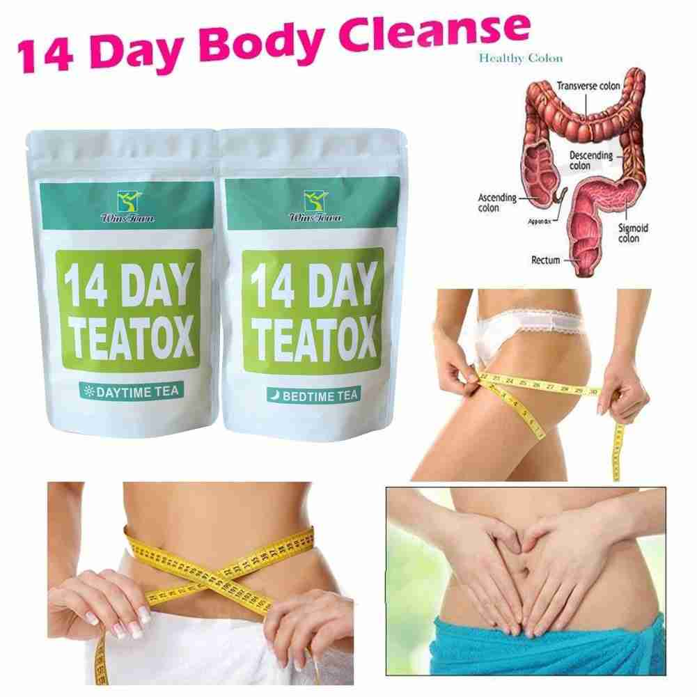 Health Appetite Suppressant Thin Belly 14 Days Detox Slimming Weight Loss Tea – as the picture