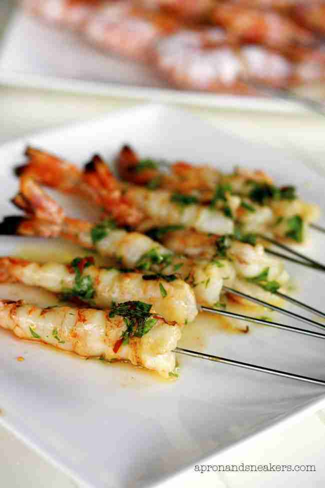 Italian Grilled Seafood & Vegetable Platter