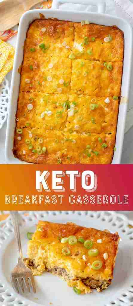 Keto Breakfast Casserole with Sausage and Eggs (Low Carb)