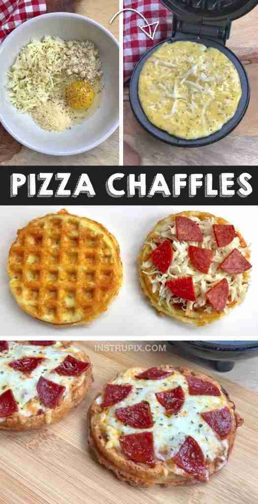 Keto Pizza Chaffles Made With Almond Flour (Quick, Easy & Low Carb)