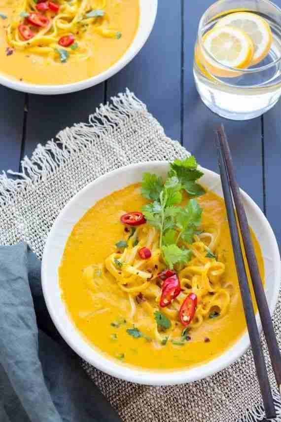 Low FODMAP Thai Pumpkin Noodle Soup – A Little Bit Yummy