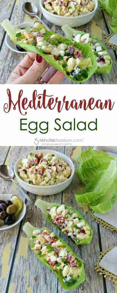Mediterranean Egg Salad In Lettuce Cups Recipe