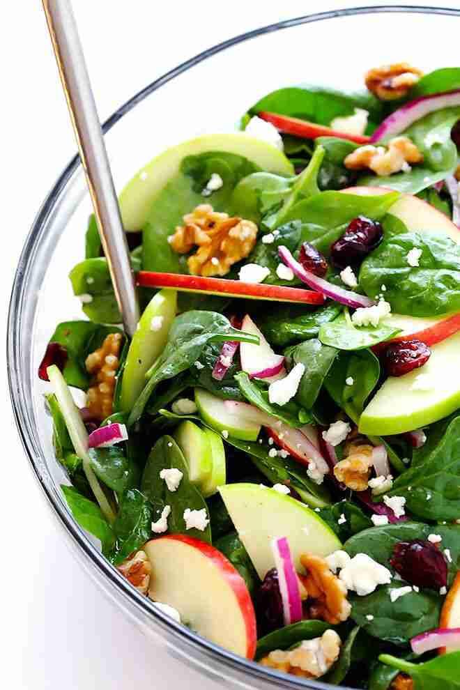 My Favorite Apple Spinach Salad   Gimme Some Oven