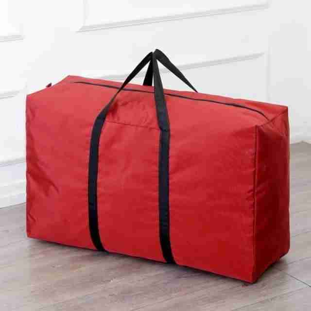Nylon Foldable Travel Bag Unisex Large Capacity Bag Luggage 2020 New Women Handbags Men Luggage Bag Free Shipping – red