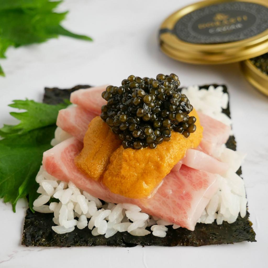Omakase Box – 2 x 3.5 oz. of Uni, 2 lbs. of Otoro, and 2 x 3.5 oz. of Chef's Choice Kaluga Caviar