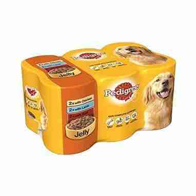 Pedigree Adult Dog Food Tins Mixed Selection in Jelly 6 x 385g