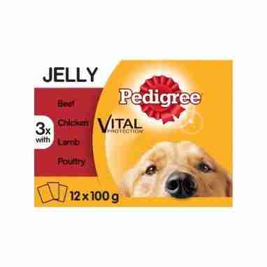 Pedigree Dog Pouches Mixed Selection in Jelly 12x100g – Single Unit