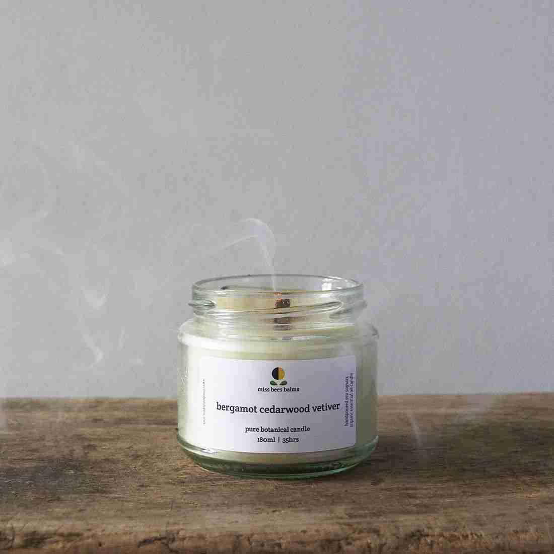 Pure Botanical Candle   Bergamot Cedarwood Vetiver