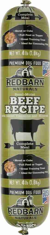 Redbarn Beef Recipe Dog Food Roll – 2.2-lb