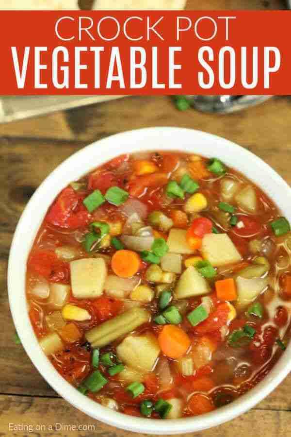 Slow Cooker Vegetable Soup Recipe – Easy Vegetable Soup Recipe