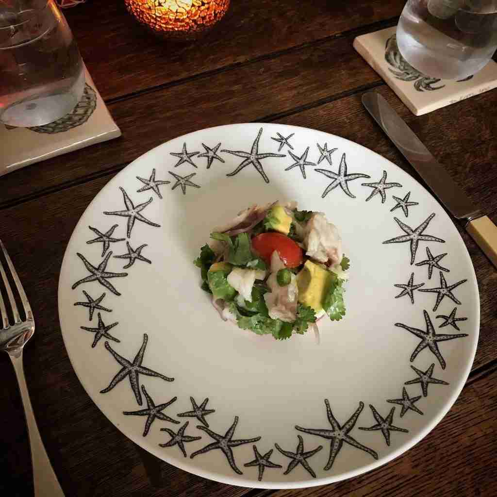 Starfish dinner plate