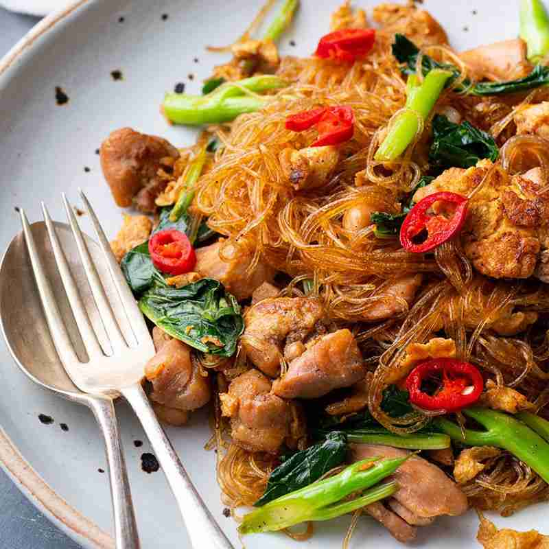 Thai Soy Sauce Glass Noodles (Pad See Ew Woon Sen) – Marion's Kitchen