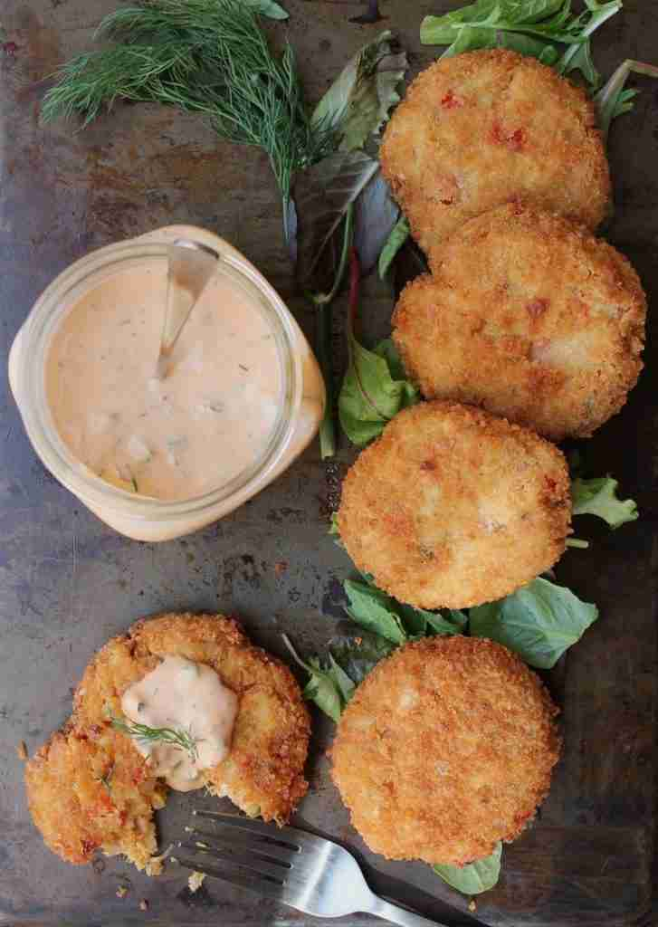 Vegan Crab Cakes (Crabless Cakes) with Dill Remoulade – Eat Figs, Not Pigs