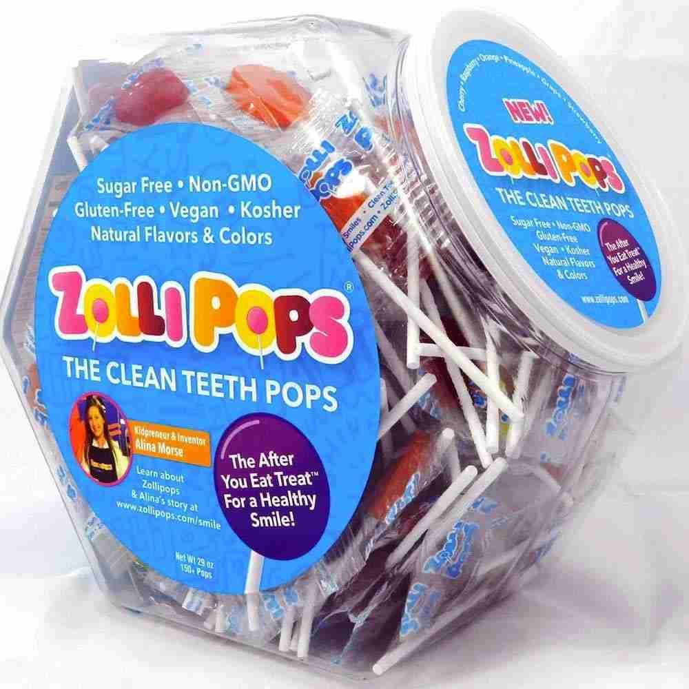 Zollipops® Original Assorted Large Hex Shape Jar 150 ct.