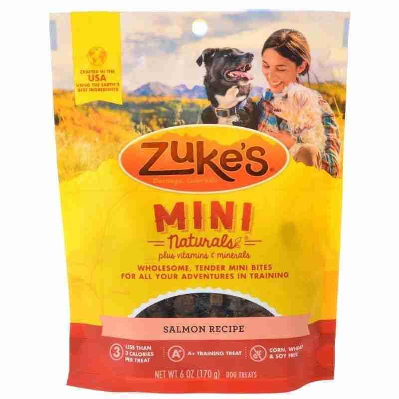 Zukes Mini Naturals Dog Treat – Savory Salmon Recipe – 6 oz