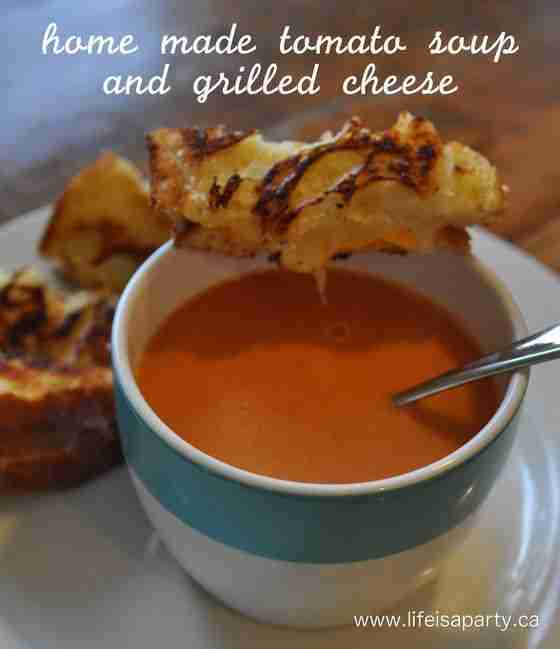 home made tomato soup and grilled cheese:  A very easy and delicious recipe for …