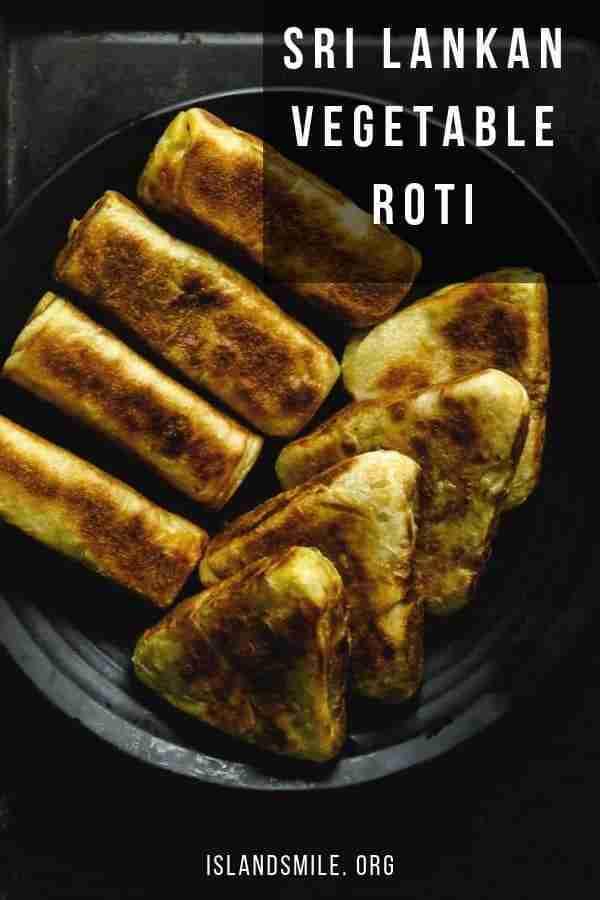 vegetable roti(elawalu roti, Sri Lankan street eats, snacks).   ISLAND SMILE