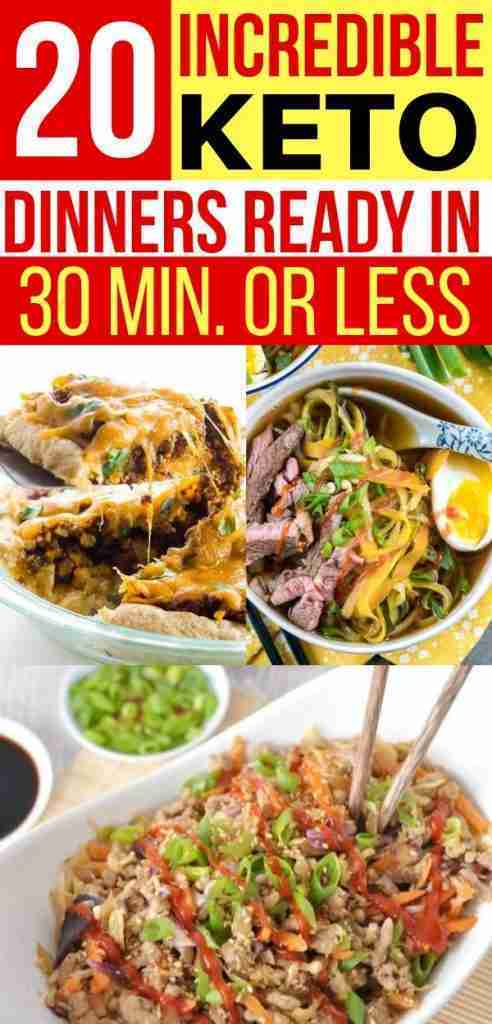 20 Low Carb Dinners – Quick & Easy (Keto)