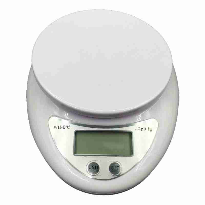 5kg Portable Digital Scale LED Electronic Scales Postal Food Balance Measuring Weight LED Electronic Scales kitchen accessories – White / 5Kg
