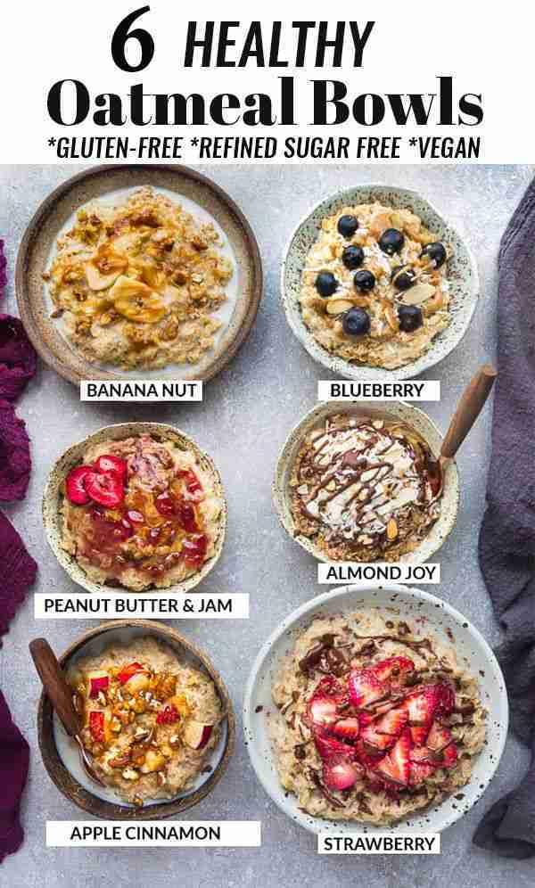 6 Healthy Oatmeal Bowls – How to Make Oatmeal
