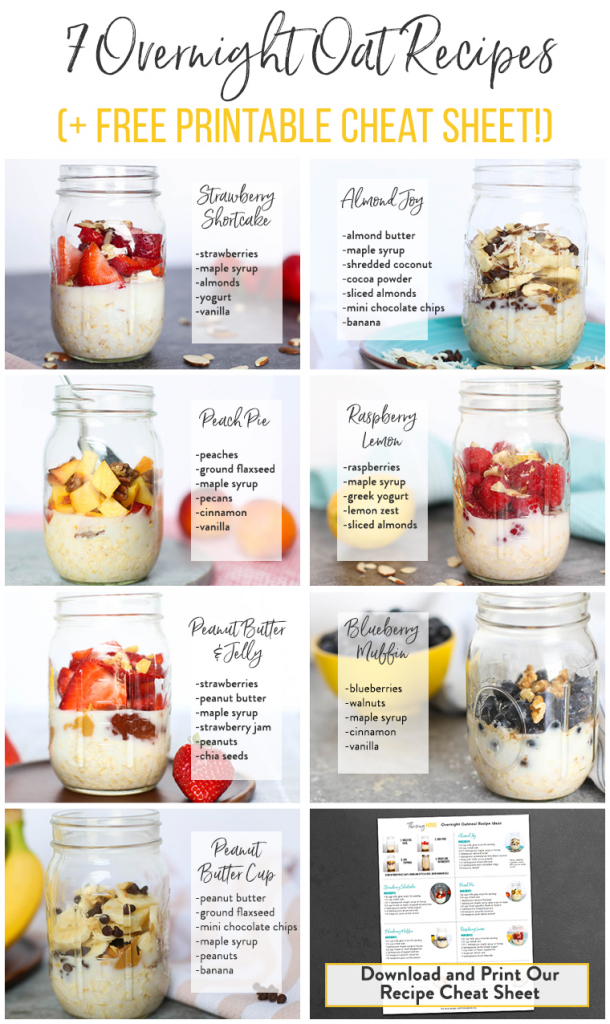 7 Overnight Oats Recipes {Free Printable!} – Thriving Home