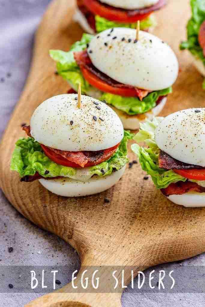 BLT Egg Sliders Recipe – Appetizer Addiction