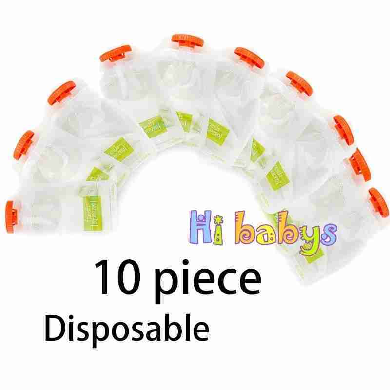 Baby Food Maker Squeeze Food Station Organic Food For Newborn Fruit Container Storage – 10pcs