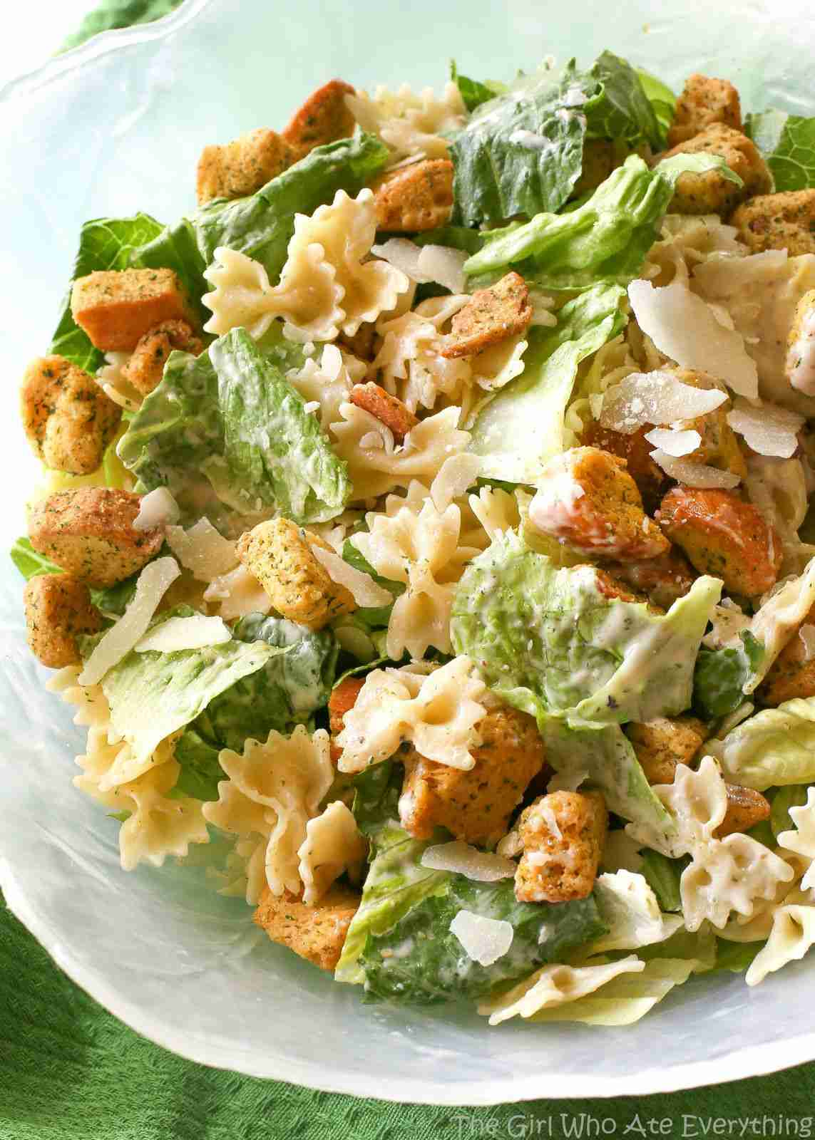 Bowtie Chicken Caesar Salad – The Girl Who Ate Everything