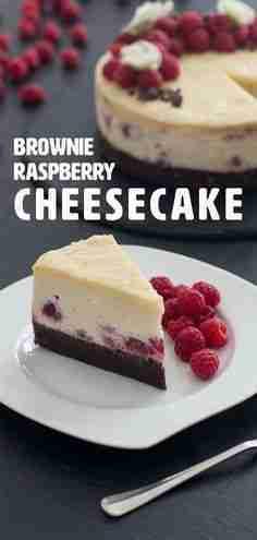 Brownie Raspberry Cheesecake