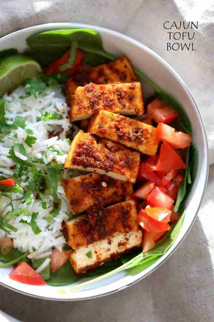 Cajun Tofu with Cilantro Lime Rice – Vegan Richa