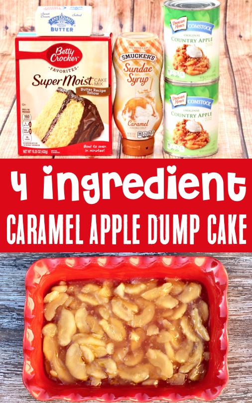 Caramel Apple Dump Cake Recipe! {Just 4 Ingredients}