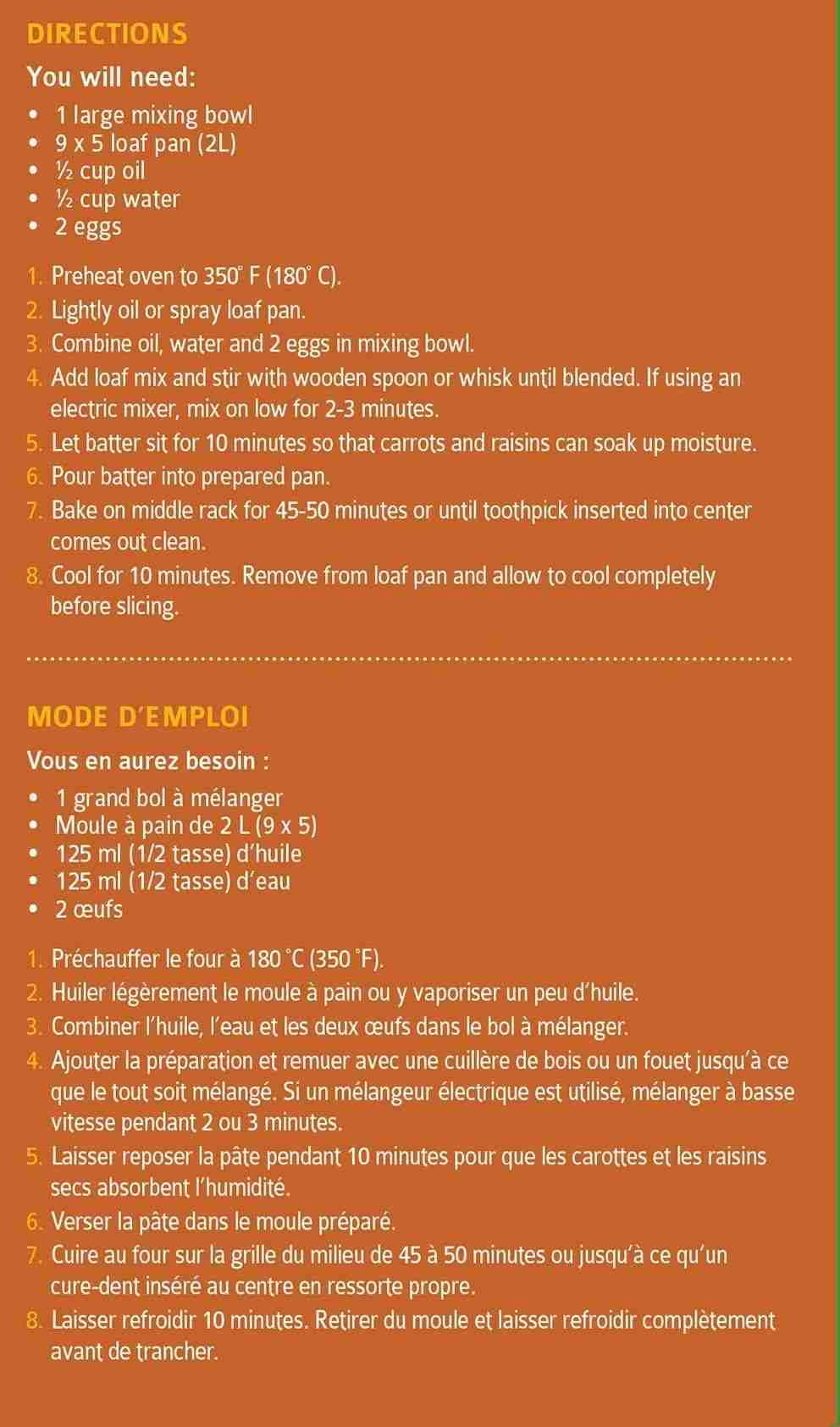 Carrot Cake Quickbread Mix | Carrot Cake | 18 oz. Box