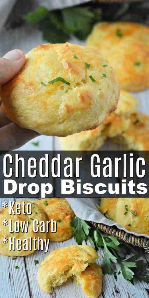 Cheddar Garlic Drop Biscuits *LOW CARB