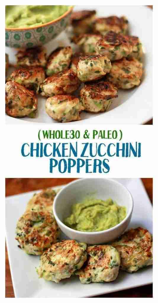 Chicken Zucchini Poppers (Gluten-Free, Paleo, Whole30, Keto)