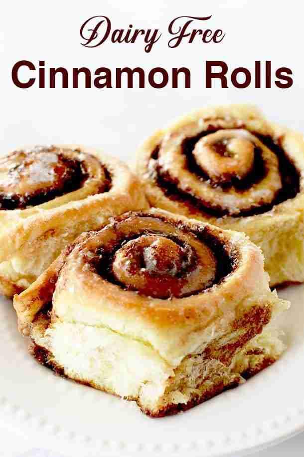 Dairy Free Cinnamon Rolls
