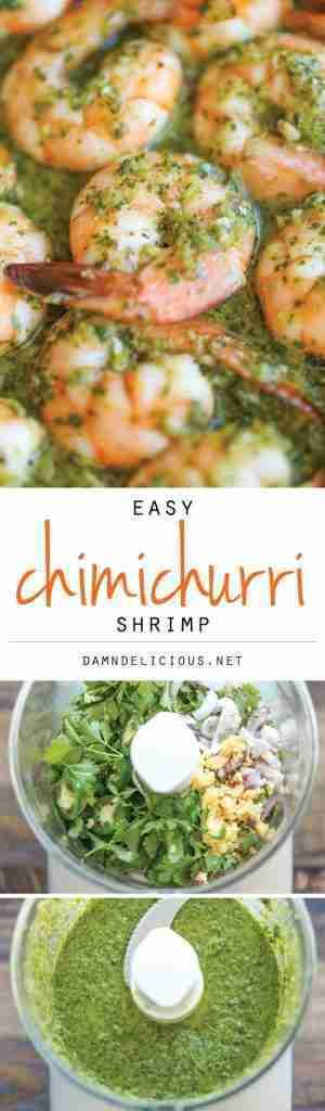 Easy Chimichurri Shrimp
